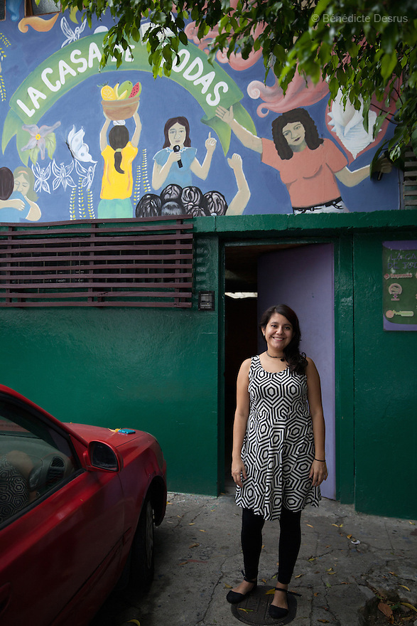 """Sara García Gross portrayed at """"La Casa de Todas"""" in San Salvador, El Salvador on June 10, 2015. Abortion in El Salvadorisillegal. The law formerly permitted an abortion to be performed under some limited circumstances, but, in 1998, all exceptions were removed when a newabortion law went into effect. Photo by Bénédicte Desrus"""