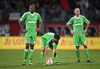 FUSSBALL   1. BUNDESLIGA  SAISON 2012/2013   10. Spieltag 1. FC Nuernberg - VfL Wolfsburg      03.11.2012 Naldo, Diego, Simon Kjaer (v. li., VfL Wolfsburg)