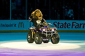 Baley, Official Mascot of Los Angeles Kings during ice-hockey match between Los Angeles Kings and Colorado Avalanche in NHL league, February 26, 2011 at Staples Center, Los Angeles, USA. (Photo By Matic Klansek Velej / Sportida.com)