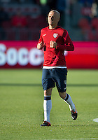 03 June 2012: US Men's National Soccer Team midfielder Michael Bradley #4 in action during the warm-up in an international friendly  match between the United States Men's National Soccer Team and the Canadian Men's National Soccer Team at BMO Field in Toronto..The game ended in 0-0 draw...