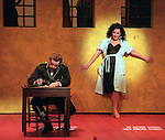 2001 - CARMEN - Carmen (Irina Mishura) flirts with Don Jose (Mark Baker) so that he may release her from jail in Opera Pacific's production of Carmen.