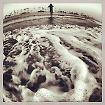 Sea foam at Venice Beach