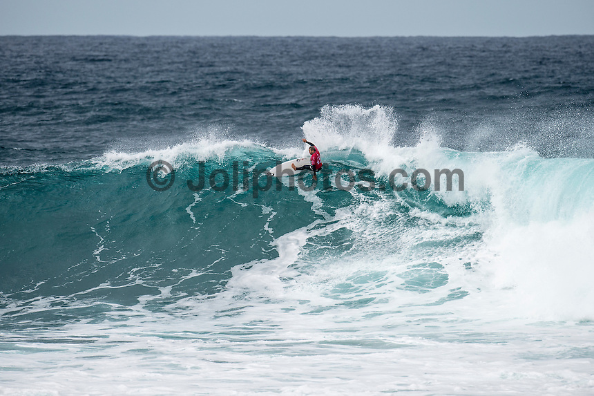 BELLS BEACH, Victoria/AUS (Sunday, March 27, 2016) Caio Ibelli (BRA) - Action at the Rip Curl Pro Bells Beach, the second stop on the World Surf League (WSL) Championship Tour (CT), continued today with Round Two and six heats of Round Three of the Men's heats.<br /> There were light onshore South West winds throughout the day with the swell in the 6'-8' range.<br /> <br /> Bells Beach has been hosting surfing tournaments for more than 50 years now, making it the most renowned spot on the raw and rugged southern coast of Victoria, Australia. The list of  Rip Curl Pro event champions is a veritable who's who of surfing icons, including many world champions.<br /> <br /> Surfing's greats have a way of dominating Bells. Mark Richards, Kelly Slater, and Mick Fanning all have four Bells trophies; Michael Peterson and Sunny Garcia, three; While Simon Anderson, Tom Curren, Joel Parkinson, Andy Irons, and Damien Hardman each grabbed a pair.<br /> <br /> The story is similar on the women's side. Lisa Andersen and Stephanie Gilmore have four Bells titles; Layne Beachley and Pauline Menczer, three; while Kim Mearig and Sally Fitzgibbons each have two.<br /> <br /> The 2016 event is about to kick off tomorrow and there was a packed warm up session at Bells this morning. <br /> Photo: joliphotos.com