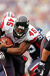 25 September 2005: T.J. Duckett (45), Runningback for the Atlanta Falcons, breaks into the endzone for a touchdown during a game against the Buffalo Bills. The Falcons defeated the Bills 24-16 at Ralph Wilson Stadium in Orchard Park, NY.<br /><br />Mandatory Photo Credit: Ed Wolfstein.