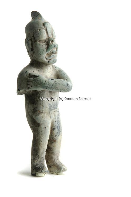 Maya Rise and Fall; Waka; El Peru; artifacts; Olmec Figurine; Heirloom artifact; David Friedel; artifact; Ancient Cultures; Maya; Mayan; Guatemala