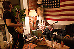 January 19, 2013. Brooklyn, New York.. We went back to Gregg Levy's after the show and the boys jammed on Gregg's new guitars.. The Spider Bags and Gross Ghost spent 5 days on an East Coast Tour that took them to Richmond, VA- Philadelphia ,PA- Brooklyn, NY and Baltimore, MD.
