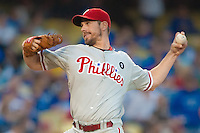 08/9/11 Los Angeles, CA:Philadelphia Phillies starting pitcher Cliff Lee #33 during an MLB game against the Los Angeles Dodgers played at Dodger Stadium. The Phillies defeated the Dodgers 2-1.