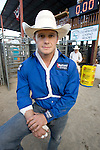 Ranked Number 1 in the world in the Bareback Riding event, Clint Cannon at the Kitsap County Fair and Stampede  Thursday, Aug. 26, 2009. Cannon won the event with an 87. Jim Bryant Photo. All Right Reserved. © 2009