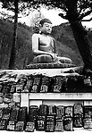 A statue of a sitting Buddha in Seoraksan National Park, South Korea.