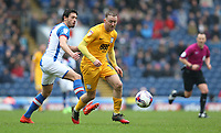 Preston North End's Aidan McGeady and Blackburn Rovers' Jason Lowe<br /> <br /> Photographer Stephen White/CameraSport<br /> <br /> The EFL Sky Bet Championship - Blackburn Rovers v Preston North End - Saturday 18th March 2017 - Ewood Park - Blackburn<br /> <br /> World Copyright &copy; 2017 CameraSport. All rights reserved. 43 Linden Ave. Countesthorpe. Leicester. England. LE8 5PG - Tel: +44 (0) 116 277 4147 - admin@camerasport.com - www.camerasport.com
