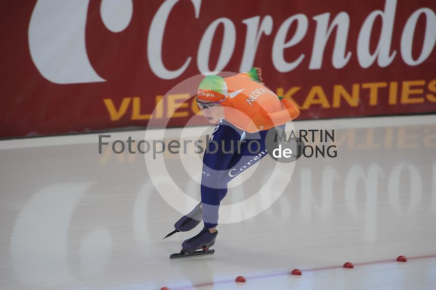 SCHAATSEN: INZELL: Max Eicher Arena, 10-02-2013, Essent ISU World Cup, Season 2012-2013, 3000m Ladies, B-division, Annouk van der Weijden (NED), ©foto Martin de Jong