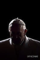 Via Crucis Pope Francis procession on Good Friday the Colosseum in Rome. 4 April, 2015