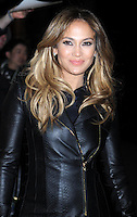 """Jennifer Lopez slips into a sexy leather outfit to promote her new movie """" Parker """" - New York"""