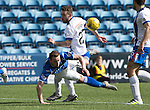 Kilmarnock v St Johnstone&hellip;09.04.16  Rugby Park, Kilmarnock<br />Chris Kane is brought down by Lee Hodson but no penalty was given<br />Picture by Graeme Hart.<br />Copyright Perthshire Picture Agency<br />Tel: 01738 623350  Mobile: 07990 594431