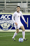 08 November 2013: Florida State's Megan Campbell (IRL). The Florida State University Seminoles played the University of North Carolina Tar Heels at WakeMed Stadium in Cary, North Carolina in a 2013 NCAA Division I Women's Soccer match and the semifinals of the Atlantic Coast Conference tournament. Florida State won the game 2-1 in overtime.