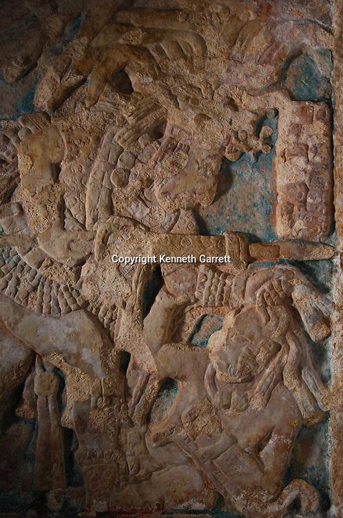 Maya rise and Fall; Bonampak Murals; Chiapas; Mexico; Warrior scenes; captives; torture; sacrifice; Ancient Cultures; Maya; Mayan; Bonampak