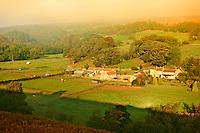 Sunrise over the head of Eskdale near Castleton, North Yorks National Park, North Yorkshire, England