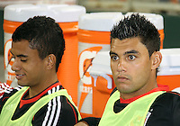 Junior #30 and J.P. Rodrigues #31 of D.C. United during an MLS match against the San Jose Earthquakes at RFK Stadium in Washington D.C. on October 9 2010. San Jose won 2-0.