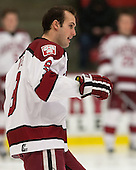 Danny Biega (Harvard - 9) - The Harvard University Crimson defeated the Colgate University Raiders 4-1 (EN) on Friday, February 15, 2013, at the Bright Hockey Center in Cambridge, Massachusetts.