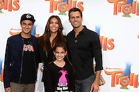WESTWOOD, CA - OCTOBER 23: Lucas Arthur Mathison, Vanessa Arevalo, Leila Emmanuelle Mathison, Cameron Mathison at the premiere Of 20th Century Fox's 'Trolls' at Regency Village Theatre on October 23, 2016 in Westwood, California. Credit: David Edwards/MediaPunch