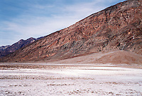 SALT CRYSTALS: BADWATER<br /> Death Valley National Monument<br /> Lowest point in the western hemisphere, 282' below sea level. Once a giant lake 600' deep known as Lake Manly. Soaring evaporation has resulted in a huge salt playa.