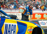 Mar 18, 2017; Gainesville , FL, USA; Rahn Tobler, crew chief for NHRA funny car driver Ron Capps during qualifying for the Gatornationals at Gainesville Raceway. Mandatory Credit: Mark J. Rebilas-USA TODAY Sports