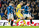 Rangers v St Johnstone&hellip;26.10.16..  Ibrox   SPFL<br />Brian Easton is surounded by Rangers players<br />Picture by Graeme Hart.<br />Copyright Perthshire Picture Agency<br />Tel: 01738 623350  Mobile: 07990 594431