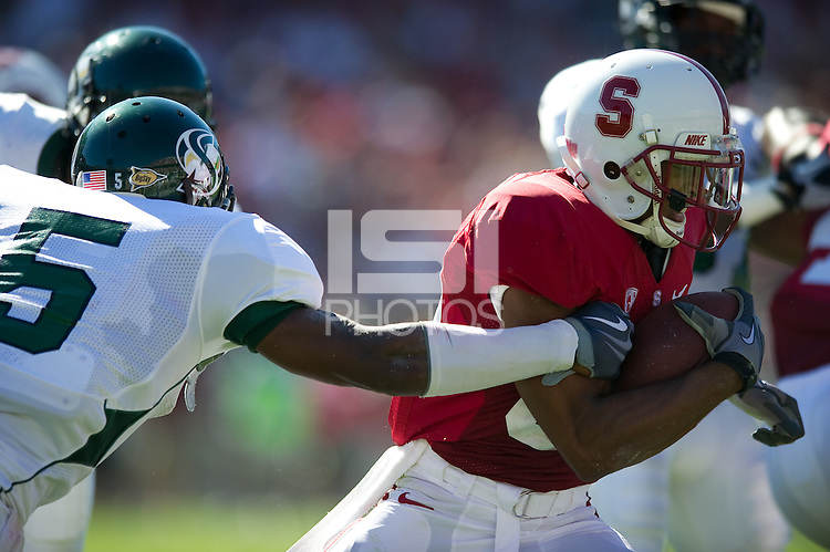 STANFORD, CA - September 4:  Doug Baldwin during a football game against Sacramento State, September 4, 2010 in Stanford, California. Stanford won 52-17.