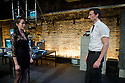 "London, UK. 03/11/2011. ""The Changeling"" opens at the Southwark Playhouse. Picture shows Fiona Hampton as Beatrice-Joanna and David Caves as De Flores. Photo by: Jane Hobson"