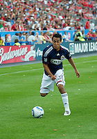 August 07 2010 Chivas USA midfielder Jesus Padilla #10 in action during a game between Chivas USA and Toronto FC at BMO Field in Toronto..Toronto FC won 2-1.