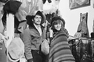 March 1971. Nathalie Delon and Marc Porel Shopping in New York. Image by © JP Laffont