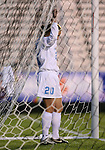 North Carolina's Heather O'Reilly stands frustrated in the goal after missing a scoring chance on Friday, November 3rd, 2006 at SAS Stadium in Cary, North Carolina. The University of North Carolina Tarheels defeated the Clemson University Tigers 3-0 in Atlantic Coast Conference Women's Soccer Championship semifinal game.