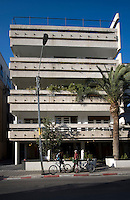 The Bauhaus style Rubinshy House at 65 Sheinkin Street built by architect Lucian Korngold in 1936. Tel Aviv is known as the White City in reference to its collection of 4,000 Bauhaus style buildings, the largest number in any city in the world. In 2003 the Bauhaus neighbourhoods of Tel Aviv were placed on the UNESCO World Heritage List.