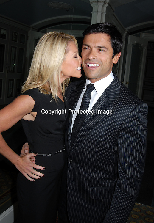 Kelly Ripa and husband Mark Consuelos..at The 18th Annual PAL  Women of the Year Luncheon  ..on October 17, 2006 at The Pierre Hotel. ..The honorees were Claudia Cohen, Pamela Thomas-Graham, Diana L Taylor and Melania Trump...Robin Platzer, Twin Images