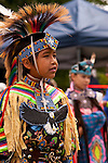 Indian Nation Pow Wow at Day Break Cultural Center in Discovery Park with children performing