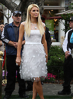 "Paris Hilton.Gabriel Mann And Kathy And Paris Hilton Fashion Show On ""Extra"" Held at The Grove, West Hollywood, California, USA..May 2nd, 2012.full length white dress tulle.CAP/ADM/KB.©Kevan Brooks/AdMedia/Capital Pictures."