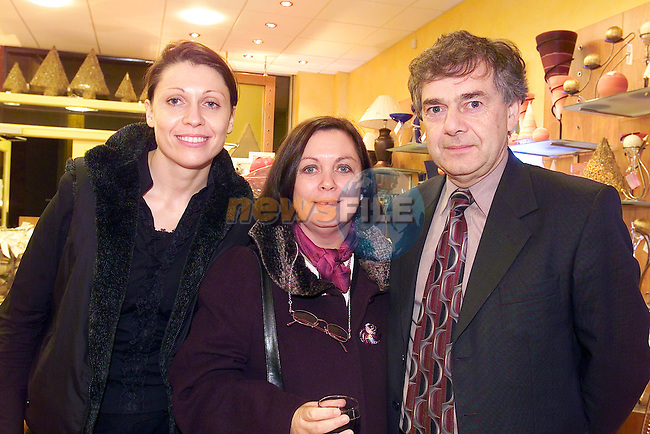 Ita Tobin, Mary English and Bernard English at the opening of Portico..Picture Fran Caffrey Newsfile.