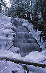 Bear Creek Waterfall, Winter Ice and Snow, Bear Creek, Luzerne Co., PA