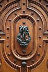 An ornate door in Old Geneva, Switzerland