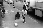 Kids playing in street south London UK 1975