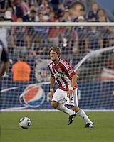 Chivas USA midfielder Blair Gavin (18) at midfield. Chivas USA defeated the New England Revolution, 4-0, at Gillette Stadium on May 5, 2010.