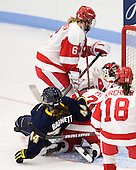 Carly Warren (BU - 6), Kiely Barnett (Windsor - 44), Samantha Pulley (BU - 21) - The Boston University Terriers defeated the visiting University of Windsor Lancers 4-1 in a Saturday afternoon, September 25, 2010, exhibition game at Walter Brown Arena in Boston, MA.