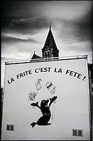 Europe/France/Nord-Pas-de-Calais/59/Nord/Dunkerque: Affiche de promotion pour la Frite