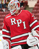 Jason Kasdorf (RPI - 33) - The Harvard University Crimson defeated the visiting Rensselaer Polytechnic Institute Engineers 5-2 in game 1 of their ECAC quarterfinal series on Friday, March 11, 2016, at Bright-Landry Hockey Center in Boston, Massachusetts.