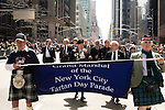 Saturday, April 14,  2007, New York, New York.. The 9th annual Tartan Day Parade was held today on 6th Avenue between 44th and 58th Streets.. Thousands turned out to play the drums, pipes and to view all those dressed for the occasion.. Scottish Parliament´s Presiding Officer, the Rt. Hon. George Reid MSP (2nd from right) served as the Grand Marshall for the parade.