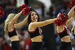 Louisville Dance team performs during their game against Northern Iowa State during the 2015 NCAA Division I Men's Basketball Championship's March 22, 2015 at the Key Arena in Seattle, Washington.  Louisville beat Northern Iowa State 66-53 to advance to the Sweet 16.  ©2015. Jim Bryant Photo. ALL RIGHTS RESERVED.