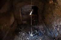 Inside the Red Zone delimiting the medieval center of L'Aquila.<br /> The wounds inflicted by the lethal earthquake seem slow to heal. The whole city center, fled on a deadly night of six years ago, stays suspended in time. L'Aquila, Italy. Apr. 10, 2015