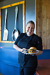 Chef Heather Love of Cow, Pig, Bun Restaurant in Kihei, Maui, Hawaii, USA