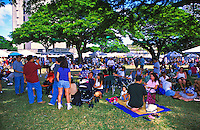 """Food, fun and entertainment at the """"""""taste of Honolulu festival"""""""". Families enjoying the festival"""
