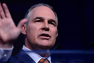 Washington, DC - March 14, 2017: EPA Administrator Scott Pruitt speaks during the National League of Cities Congressional City Conference at the Marriott Wardman Park Hotel in the Distirct of Columbia March 14, 2017.  (Photo by Don Baxter/Media Images International)